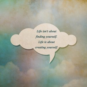 Meaningful quote on paper cloud