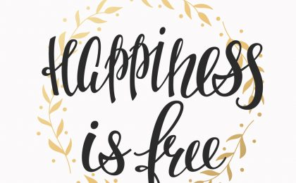 Lettering typography happiness overlay
