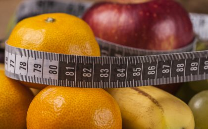 Dieting fruit measuring tape